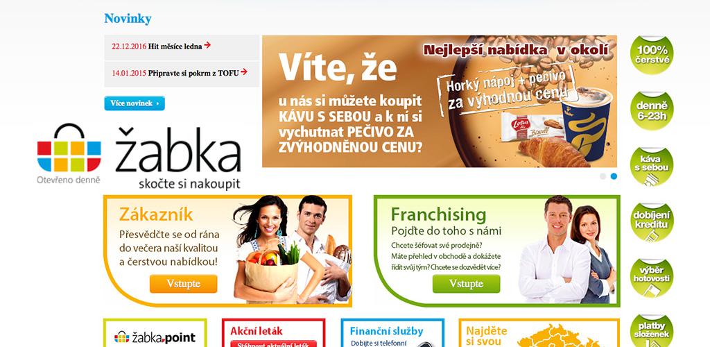 Web iŽabka.cz